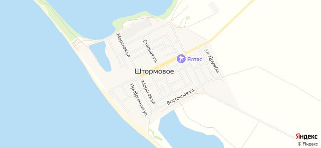 Отдых в Штормовом на первой береговой линии - объекты на карте