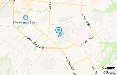 Местоположение на карте пункта техосмотра по адресу г Мурманск, пр-кт Ленина, д 11Б