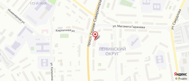 Карта расположения пункта доставки Мурманск Героев-североморцев в городе Мурманск
