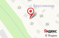 Схема проезда до компании Брусникино в Зверосовхозе