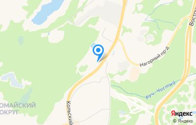 Местоположение на карте пункта техосмотра по адресу г Мурманск, пр-кт Кольский, д 81
