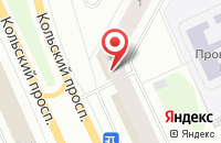 Схема проезда до компании Портфолио в Мурманске