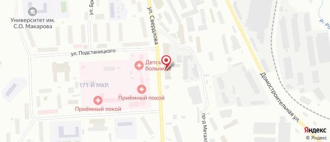 Карта расположения пункта доставки Мурманск Свердлова в городе Мурманск