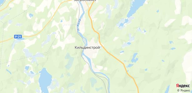 Кильдинстрой на карте