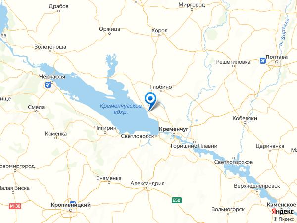 посёлок городского типа Градижск на карте