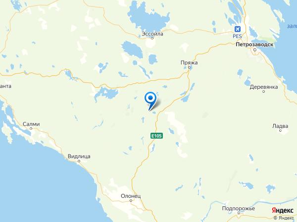 деревня Лисья Сельга на карте