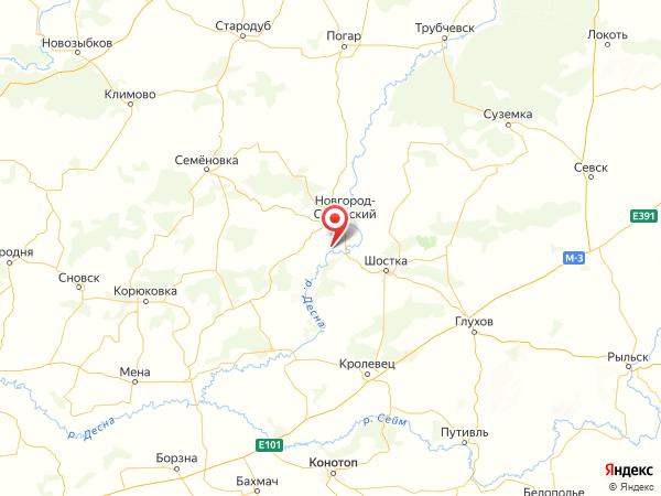 село Горки на карте