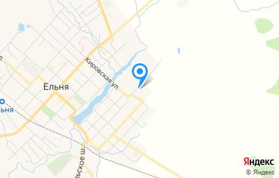 Местоположение на карте пункта техосмотра по адресу Смоленская обл, г Ельня, ул Синенкова, д 59