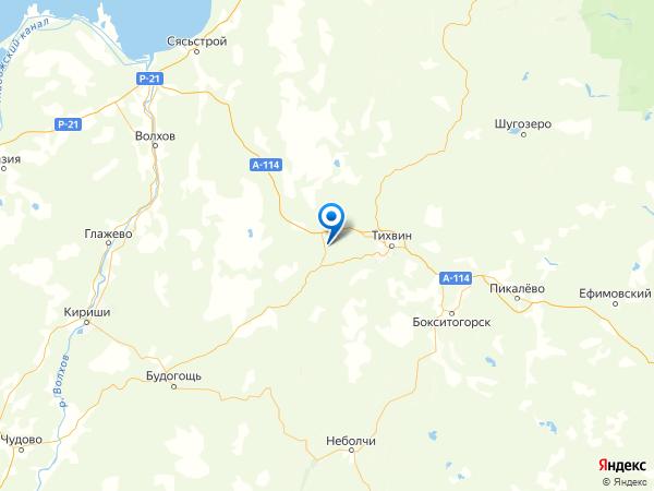 поселок при ж.-д. станции Цвылёво на карте