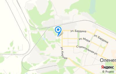 Местоположение на карте пункта техосмотра по адресу Мурманская обл, г Оленегорск, ул Бардина, д 4 к 17