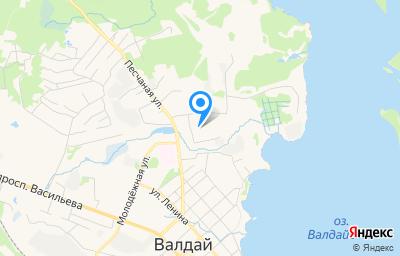 Местоположение на карте пункта техосмотра по адресу Новгородская обл, г Валдай, ул Механизаторов, д 9