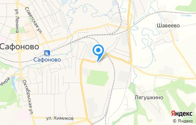 Местоположение на карте пункта техосмотра по адресу Смоленская обл, г Сафоново, ул Кутузова, д 31