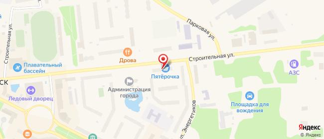 Карта расположения пункта доставки Халва в городе Оленегорск