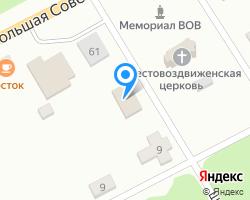 Схема местоположения почтового отделения 216533