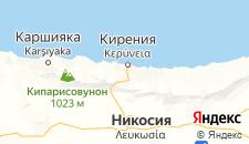 Отели города Кирения на карте