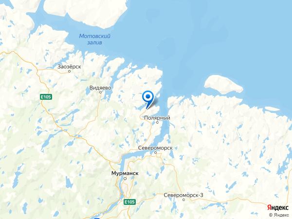 Гаджиево на карте