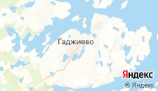 Гостиницы города Гаджиево на карте