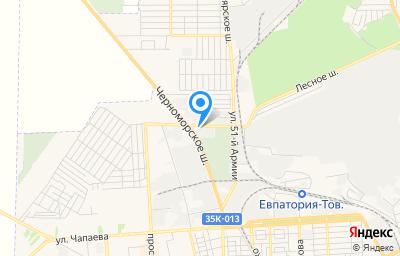 Местоположение на карте пункта техосмотра по адресу Респ Крым, г Евпатория, проезд Межквартальный, д 11А