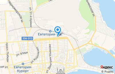 Местоположение на карте пункта техосмотра по адресу Респ Крым, г Евпатория, ул Немичевых, стр 58