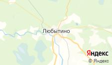 Отели города Любытино на карте