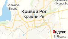 Гостиницы города Кривой Рог на карте