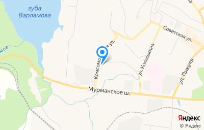Местоположение на карте пункта техосмотра по адресу Мурманская обл, г Североморск, ул Флотских Строителей