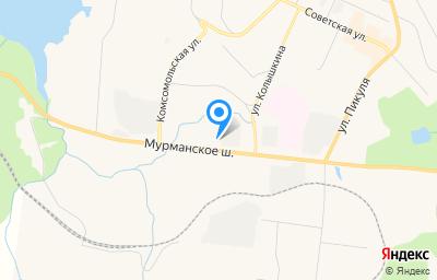 Местоположение на карте пункта техосмотра по адресу Мурманская обл, г Североморск, ш Мурманское, д 5А