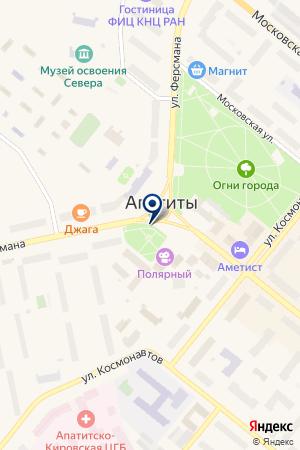АПАТИТСКАЯ ФИЛЬМОТЕКА на карте Апатитов