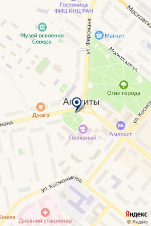 ТФ ТЕЛЕСЕТЬ на карте Апатитов