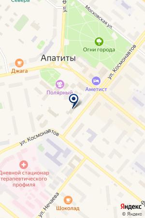 АВТОШКОЛА АЛЬЯНС ПЛЮС на карте Апатитов