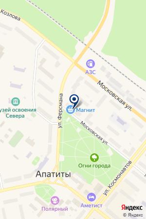 МАГАЗИН ОДЕЖДЫ СИЛУЭТ на карте Апатитов