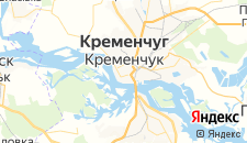 Гостиницы города Кременчуг на карте