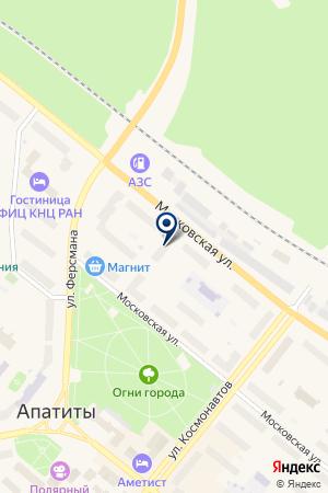 АЗС ГЕЛАН-З на карте Апатитов
