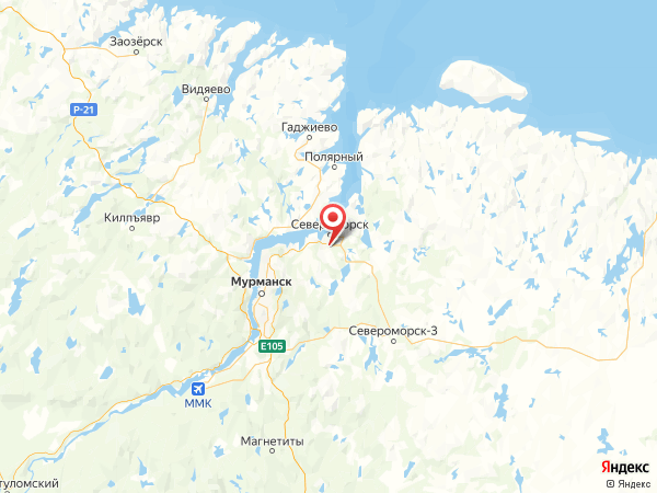 поселок Североморск-1 на карте