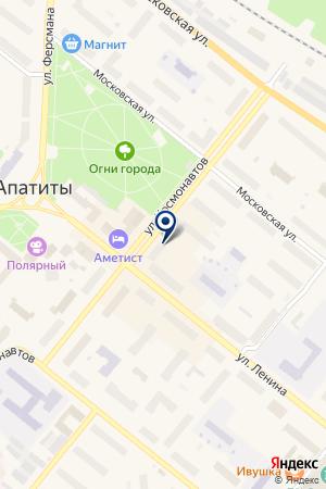 АПАТИТСКИЙ КРАЕВЕДЧЕСКИЙ МУЗЕЙ на карте Апатитов