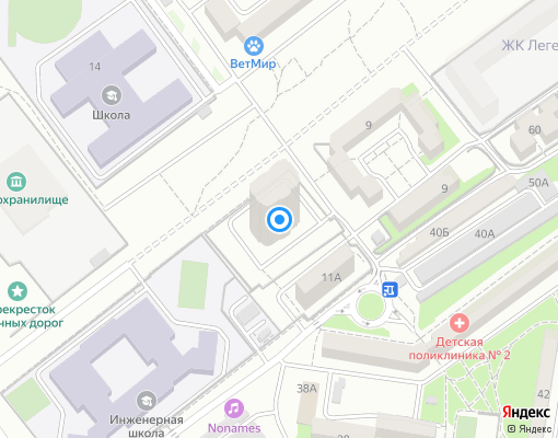 Товарищество собственников жилья «Античный,11» на карте Севастополя