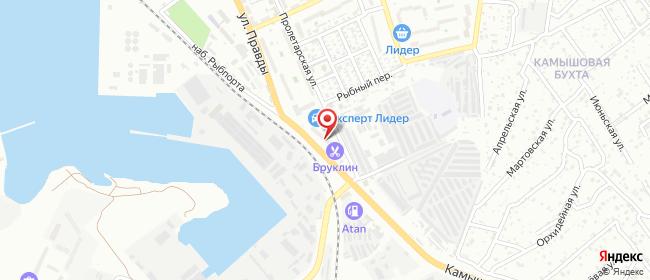 Карта расположения пункта доставки На Правды в городе Севастополь