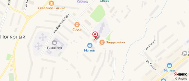 Карта расположения пункта доставки Полярный Фисановича в городе Полярный