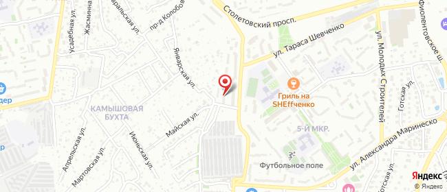 Карта расположения пункта доставки На Шевченко в городе Севастополь