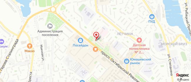 Карта расположения пункта доставки Севастополь Октябрьской Революции в городе Севастополь