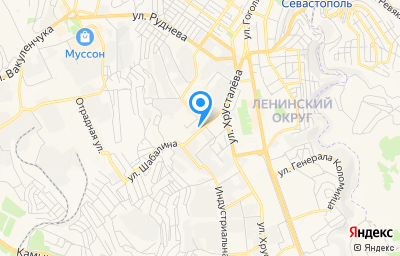 Местоположение на карте пункта техосмотра по адресу г Севастополь, ул Шабалина, д 6