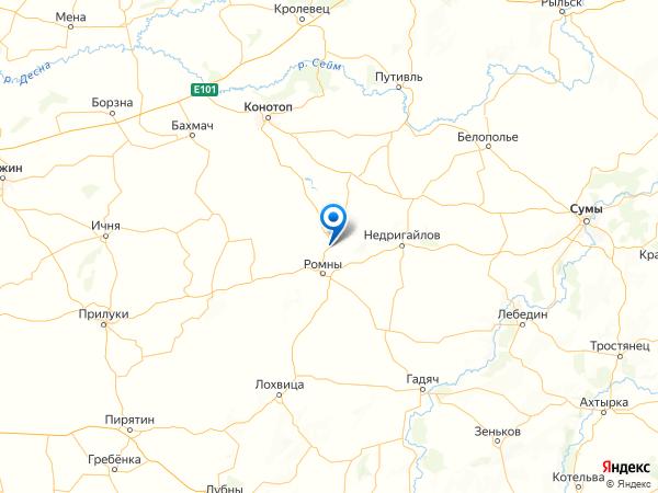 село Гаи на карте