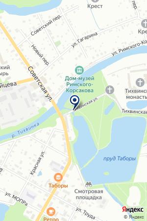 ТИХВИНСКИЙ ИСТОРИКО-МЕМОРИАЛЬНЫЙ АРХИТЕКТУРНО-ХУДОЖЕСТВЕННЫЙ МУЗЕЙ на карте Тихвина