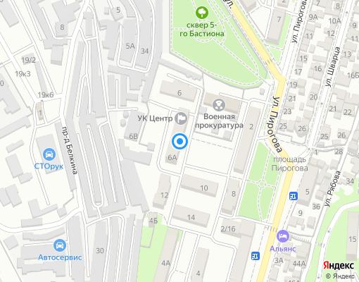 Управляющая компания «ЦЕНТР» на карте Севастополя