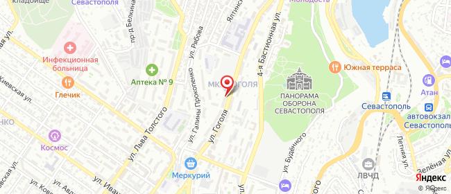 Карта расположения пункта доставки Севастополь Гоголя в городе Севастополь