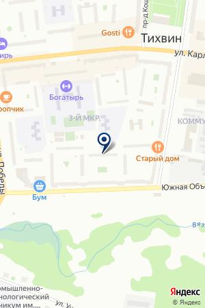 МУП ТИХВИНСКОЕ ЖРЭУ № 3 на карте Тихвина