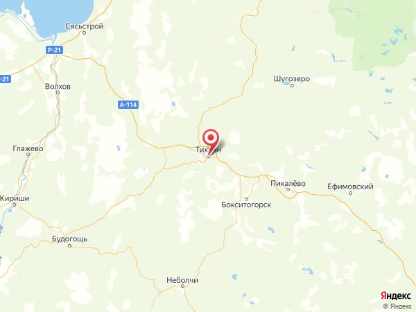 Тихвин на карте