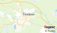 Гостиницы города Тихвин на карте