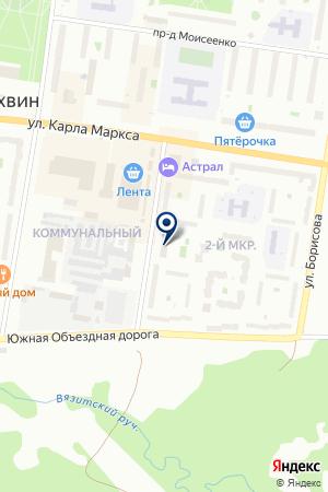 АДВОКАТСКИЙ КАБИНЕТ СЫСОЕВ В.А. на карте Тихвина