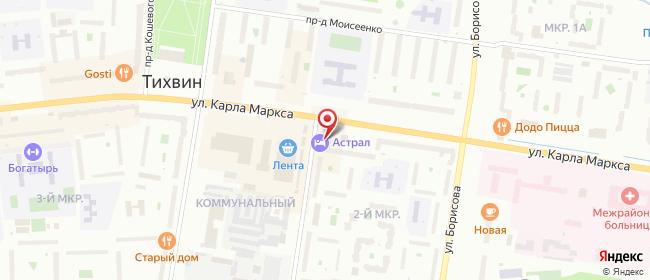 Карта расположения пункта доставки СИТИЛИНК в городе Тихвин